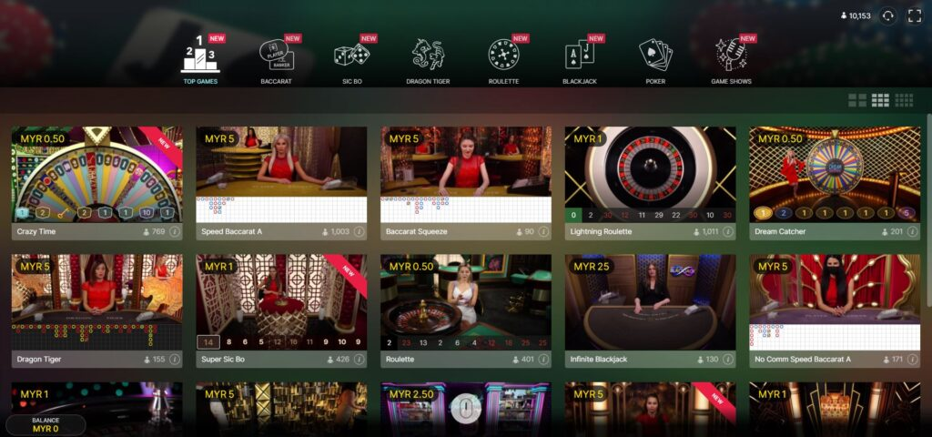 Asiabet33 Evolution Gaming Game Preview 1
